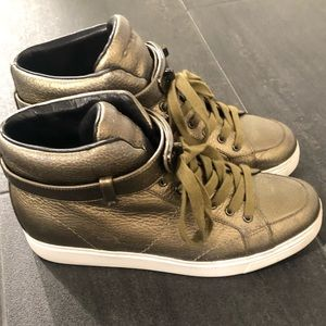 Coach High Top Leather Sneakers